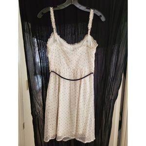 Zara Dresses - Zara White Polka Dot Dress